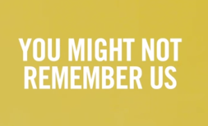 """""""You Might Not Remember Us"""" screenshot"""